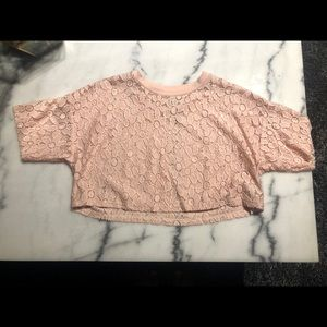 Forever 21 pink flowery crop too
